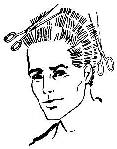 Рис. 36. Предварительная стрижка волос 'на пальцах'