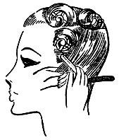 Рис. 52. Обработка бритвой волос левого височного участка
