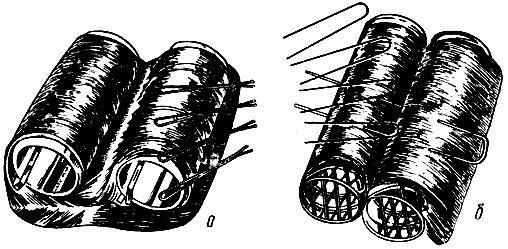 Рис. 68. Приемы использования невидимок и обычных шпилек для фиксирования бигуди
