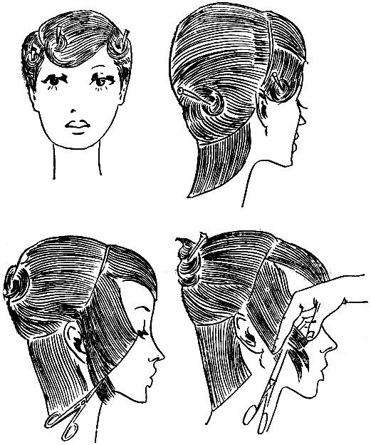 Схема стрижки 'сэссун'