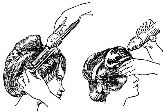 Рис. 31. Укладка волос феном