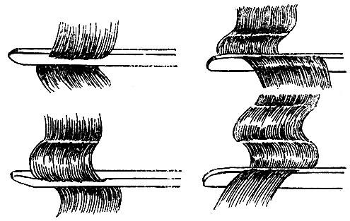 Рис. 37. Оформление волны щипцами поэтапно