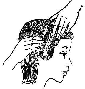 Рис. 38. Укладывание волос холодным способом
