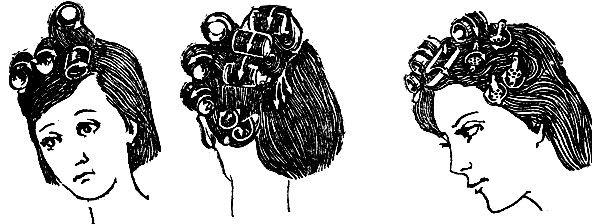 Рис. 41. Выполнение прически комбинированным методом