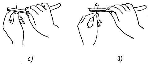 Рис. 17. Проверка остроты бритвы
