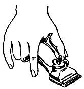 Рис. 20. Положение ручной машинки при стрижке
