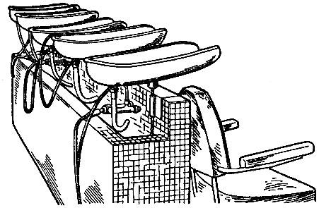 Рис. 40. Оборудование для мытья головы